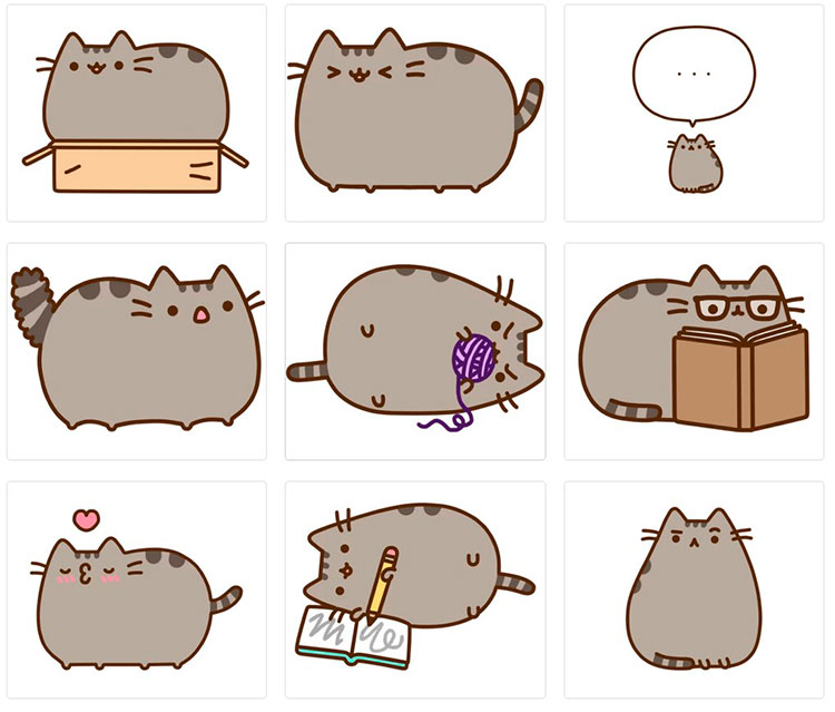 Стикеры для telegram Pusheen