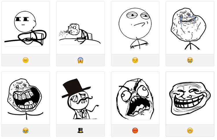 Стикеры для telegram Rage-Comics