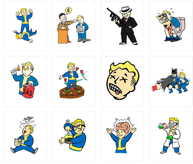 Стикеры для telegram Vault-Boy