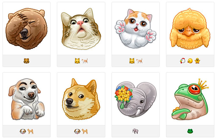 Стикеры для telegram animals