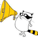 """Набор стикеров """"Енот Beeline"""" для Telegram"""