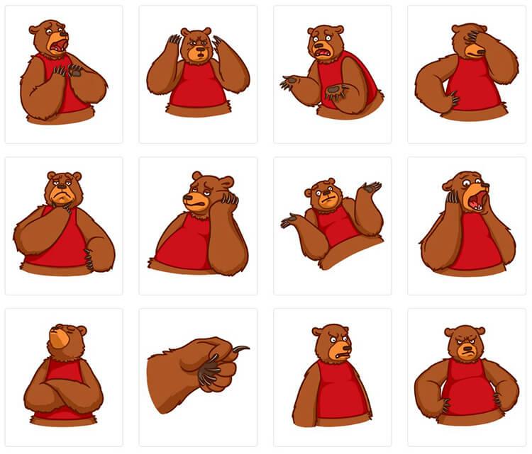 Набор стикеров для Телеграмм «Михаил»
