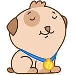 """Набор стикеров """"щенок Купер"""" для Telegram"""