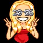 Набор стикеров «Новый год с Мари»