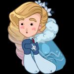 Набор стикеров «Снегурочка»