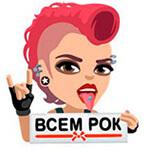 Набор стикеров «VK Faces» для Телеграмм