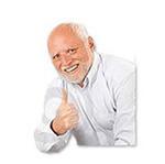 Набор стикеров «Гарольд, прячущий боль» для Телеграмм