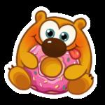 Набор стикеров «Медвежонок»
