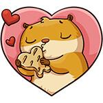Коллекция стикеров «Влюбленный Сеня» для Телеграмм