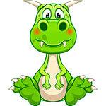 Набор стикеров «Динозавр Филли»
