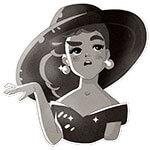 Набор стикеров «Гламурная Одри»